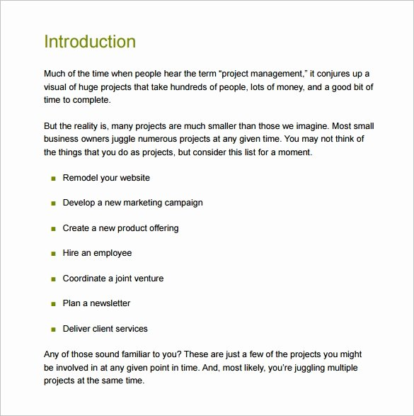 Project Plan Outline Template Elegant 16 Project Management Plan Templates Free Sample