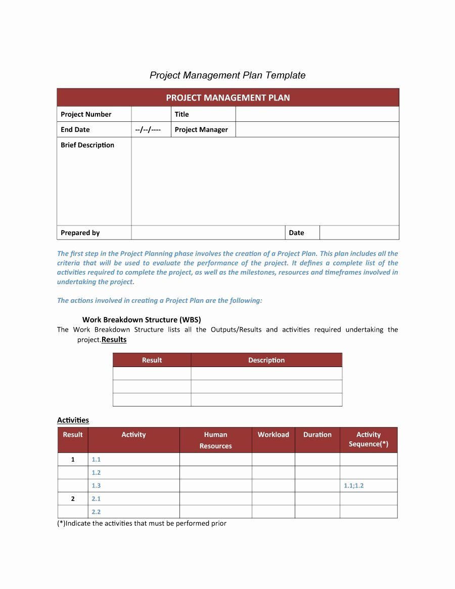Project Plan Outline Template Elegant 48 Professional Project Plan Templates [excel Word Pdf
