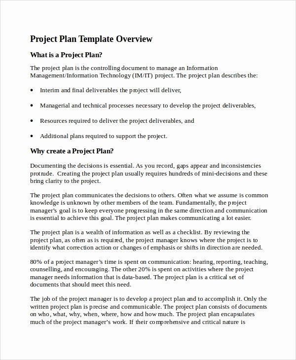 Project Plan Outline Template Elegant 7 It Project Plan Templates