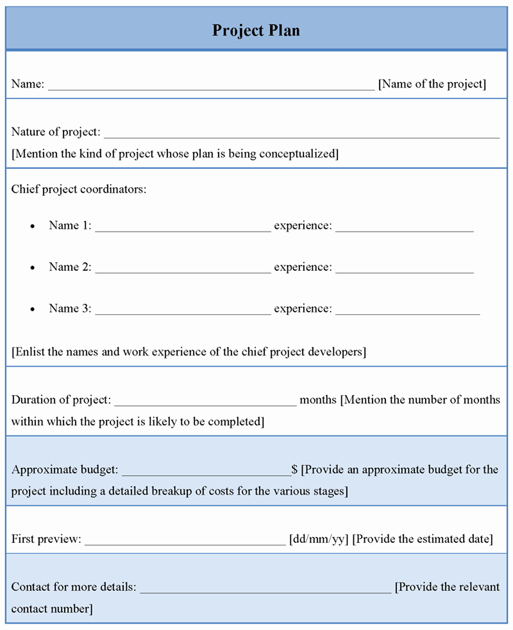Project Plan Outline Template Elegant Project Planning Template