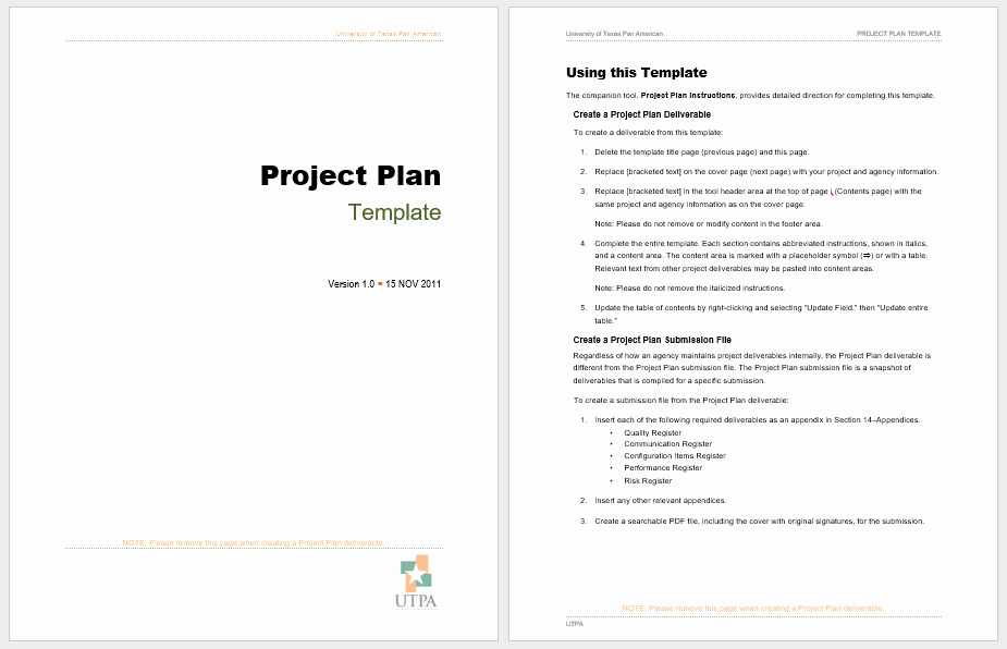 Project Plan Template Microsoft Word Elegant Project Plan Templates 18 Free Sample Templates