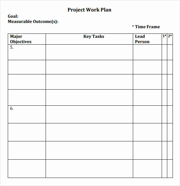 Project Plan Template Word Beautiful 12 Sample Work Plans