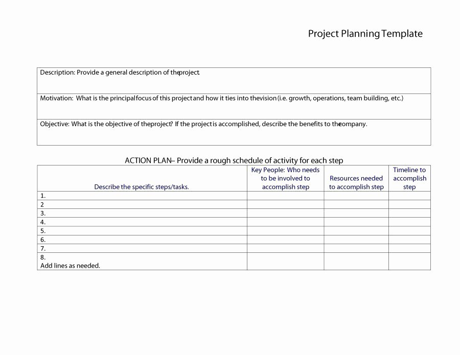 Project Plan Template Word Fresh 48 Professional Project Plan Templates [excel Word Pdf