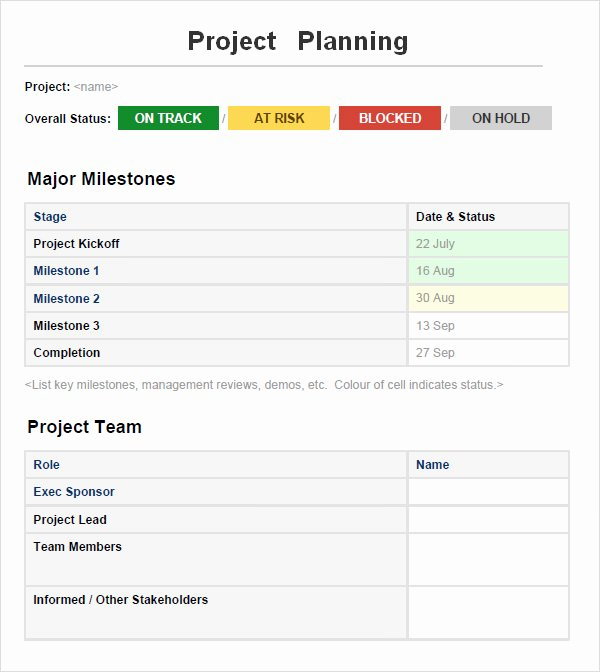 Project Plan Template Word Fresh Project Planning Template 5 Free Download for Word
