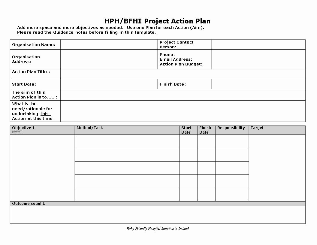 Project Plan Template Word Luxury Free Project Action Plan Word