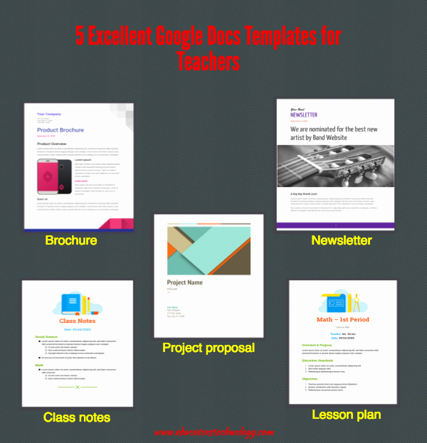 Project Proposal Template Google Docs Fresh 5 Excellent Google Docs Templates for Teachers