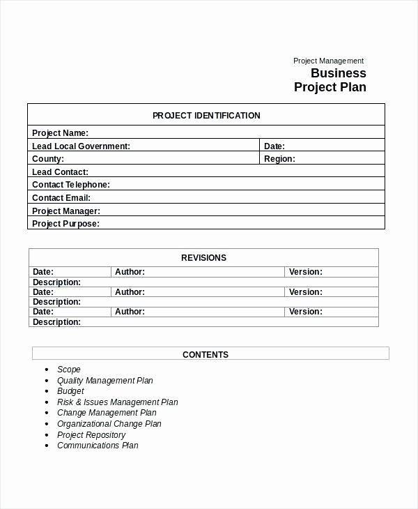 Project Proposal Template Google Docs Inspirational Project Management Business Plan Template – Syncla