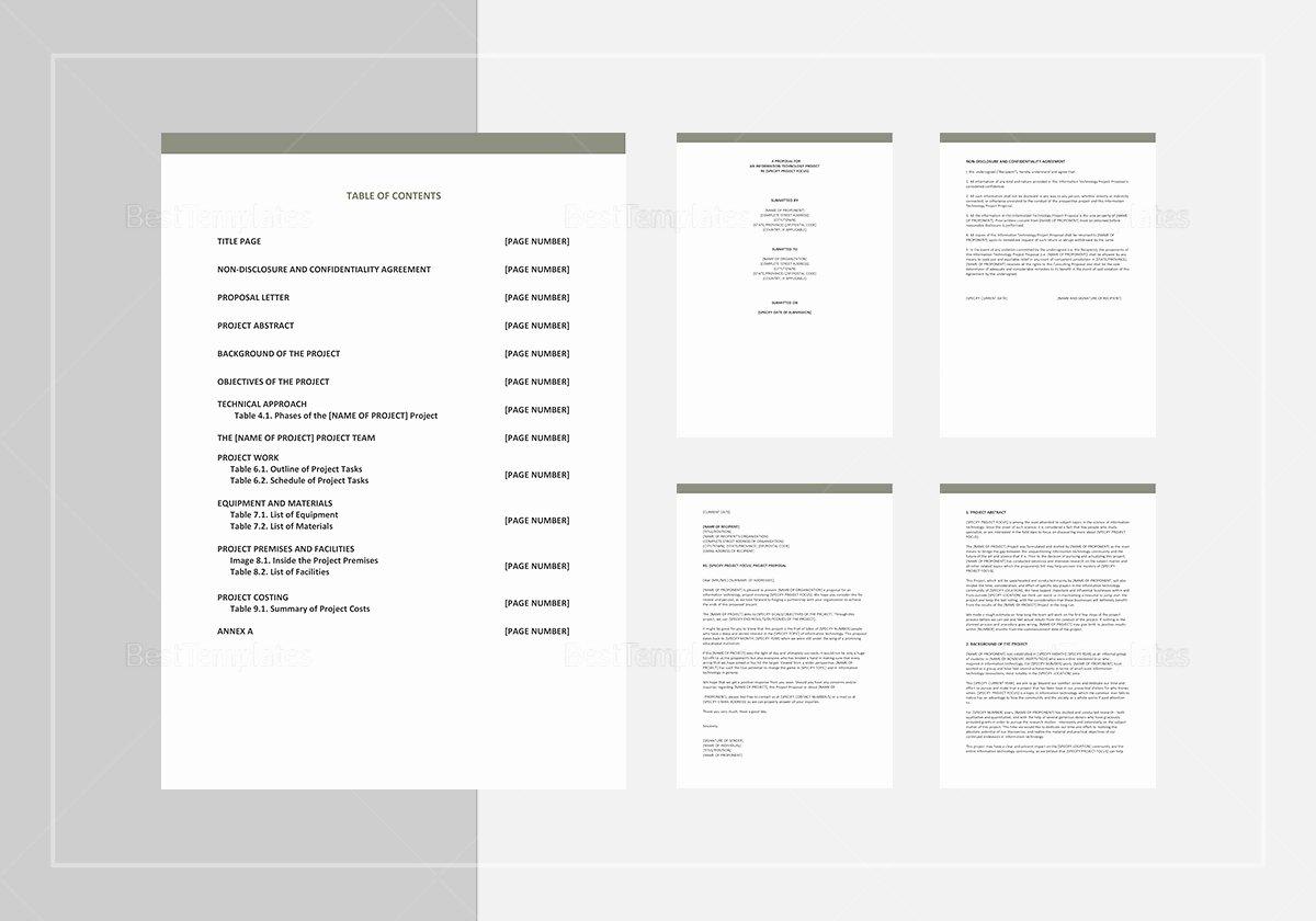 Project Proposal Template Google Docs Unique It Project Proposal Template In Word Google Docs Apple Pages