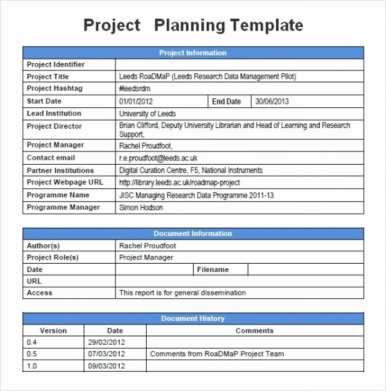 Project Schedule Template Word Inspirational Project Management Plan Template