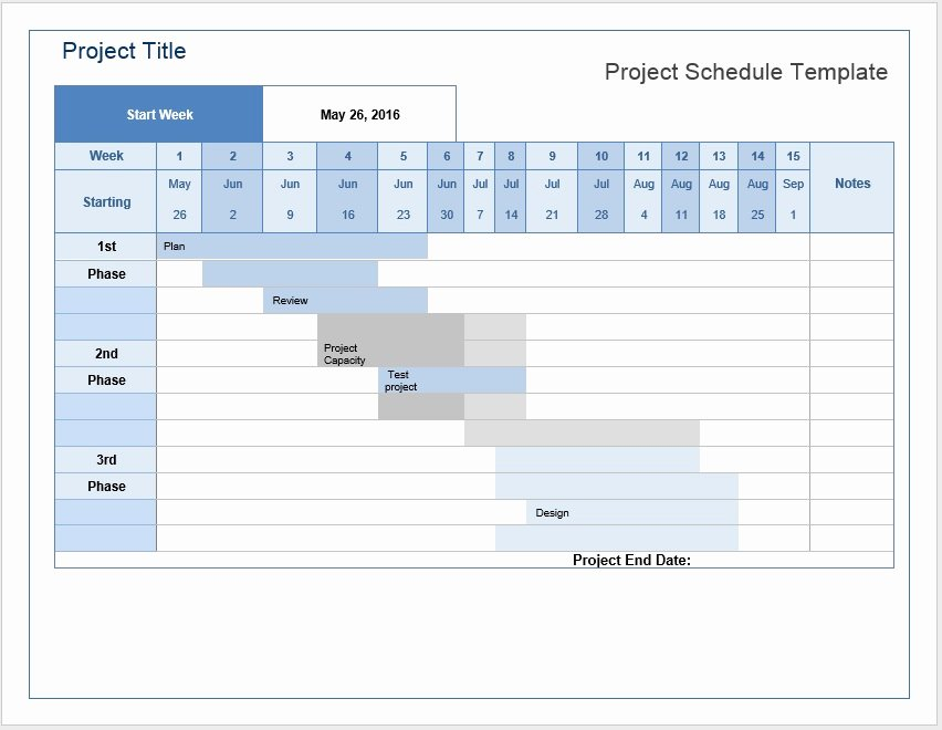 Project Schedule Template Word New Project Schedule – Word Template – Microsoft Word Templates