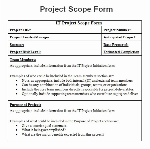 Project Scope Statement Template Awesome 8 Sample Project Scope Templates – Pdf Word