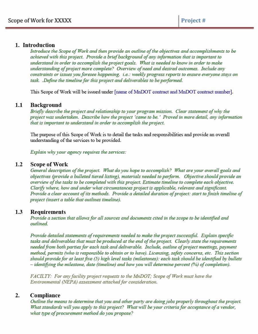 Project Scope Statement Template Best Of 43 Project Scope Statement Templates & Examples Template Lab