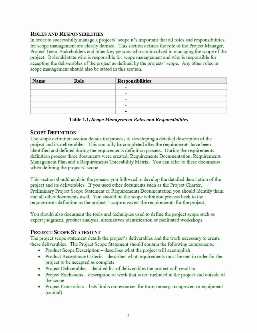 Project Scope Statement Template Luxury 43 Project Scope Statement Templates & Examples Template Lab
