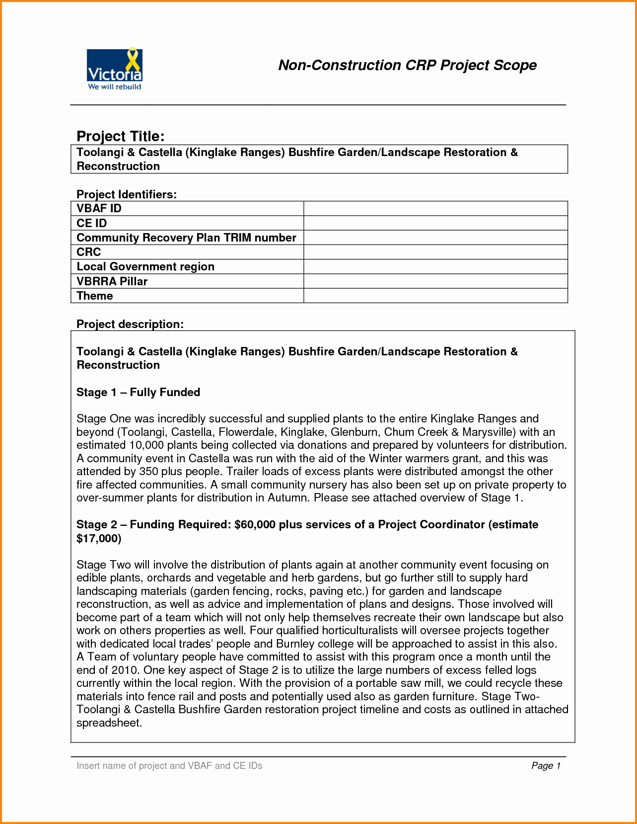 Project Scope Statement Template Unique 6 Project Scope Statement Example