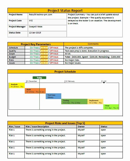 Project Status Report Template Excel Beautiful Weekly Status Report Template Excel