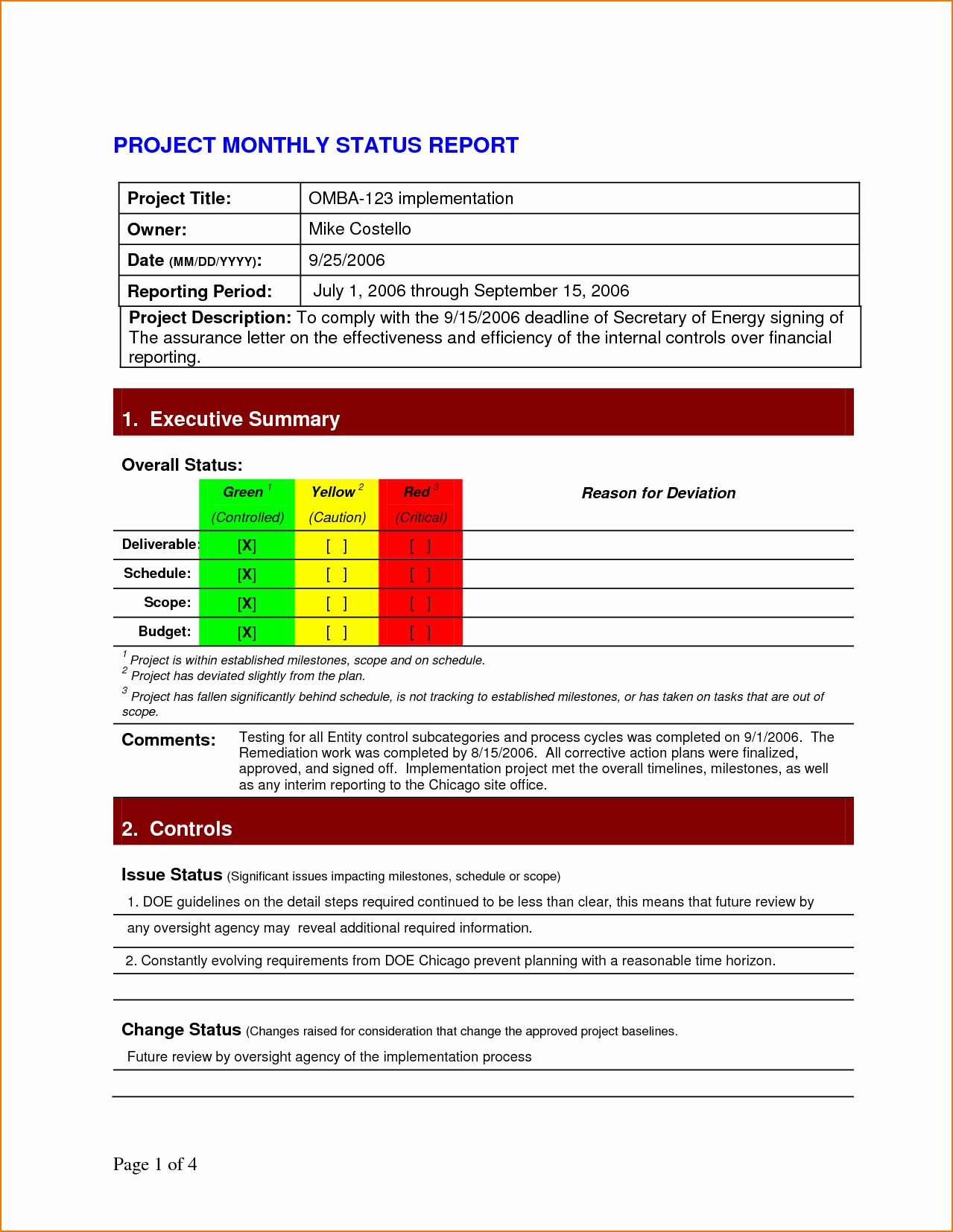 Project Status Report Template Excel Fresh 5 Project Status Report Template