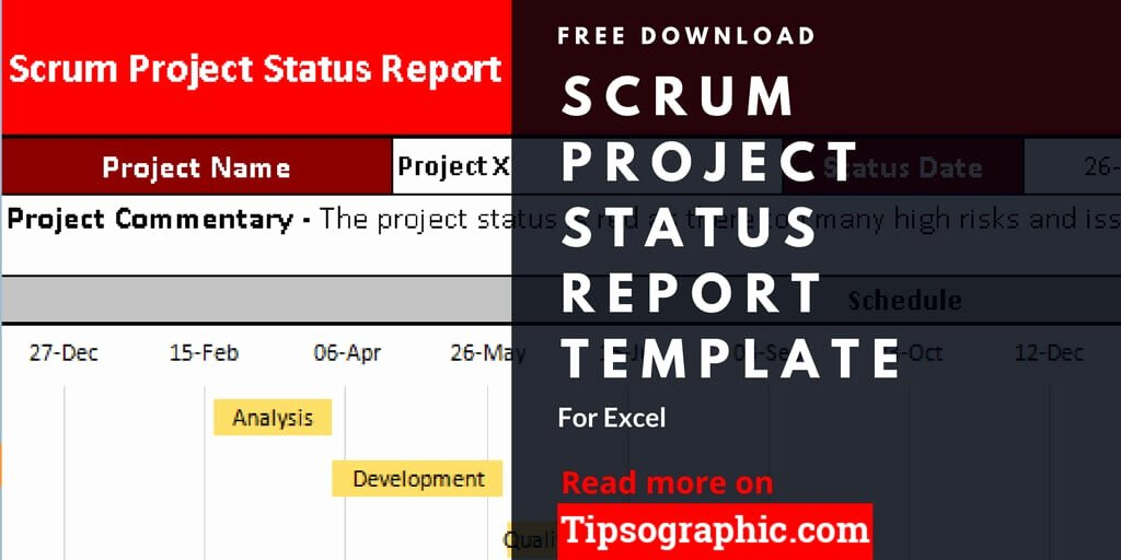 Project Status Report Template Excel Luxury Scrum Project Status Report Template for Excel Free