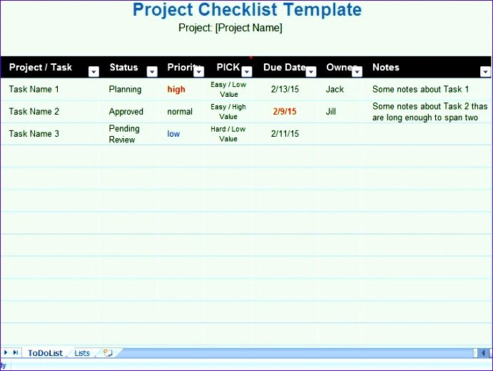 Project Task List Template Excel Elegant 11 Daily Task List Template Excel Exceltemplates