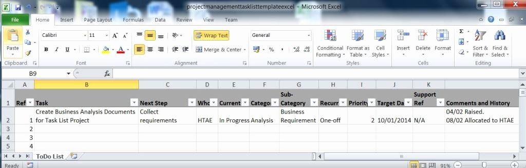 Project Task List Template Excel Lovely Create A Task List Spreadsheet In Excel