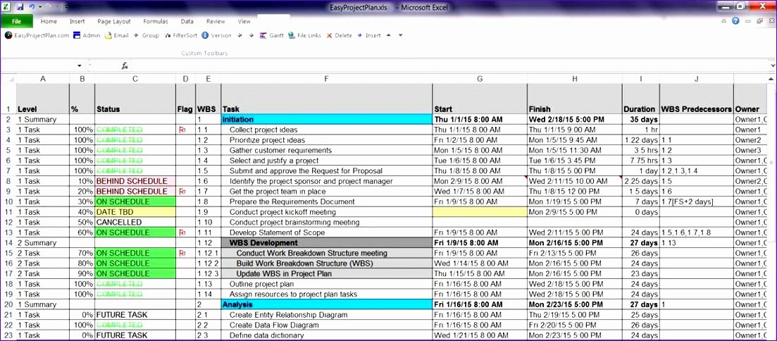 Project Task List Template Excel New 7 Excel Template Task List Exceltemplates Exceltemplates