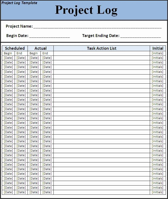 Project Task List Template New 8 Best Of Printable Project Template Project
