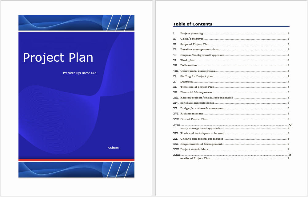 Project Template Microsoft Word Awesome Project Plan Template – Microsoft Word Templates