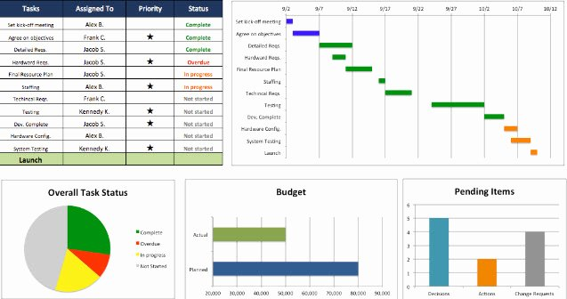 Project Template Microsoft Word Fresh Project Management Dashboard