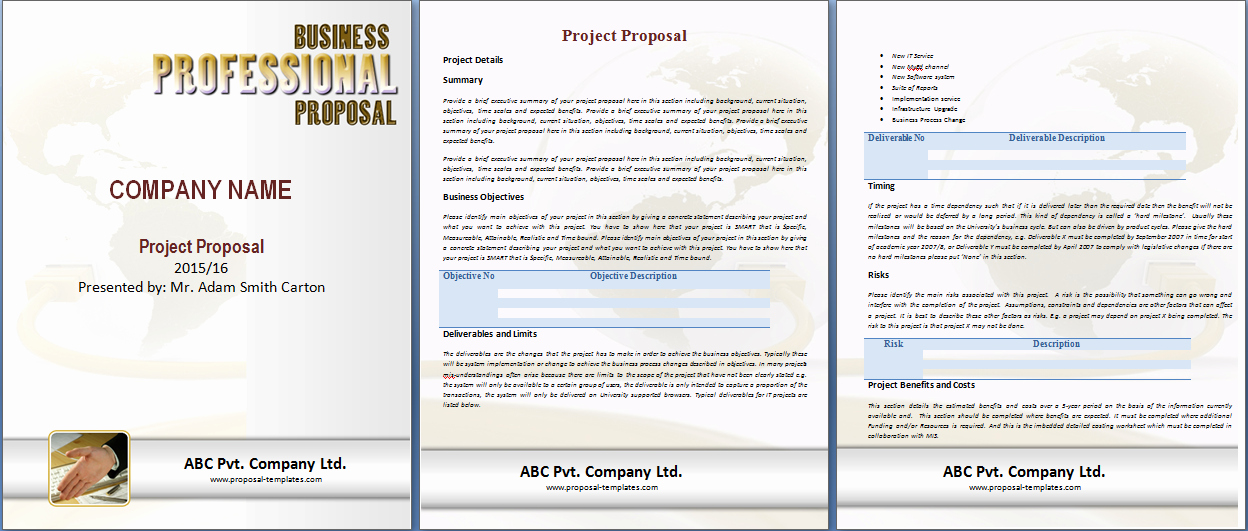Project Template Microsoft Word Inspirational Project Proposal Template Free