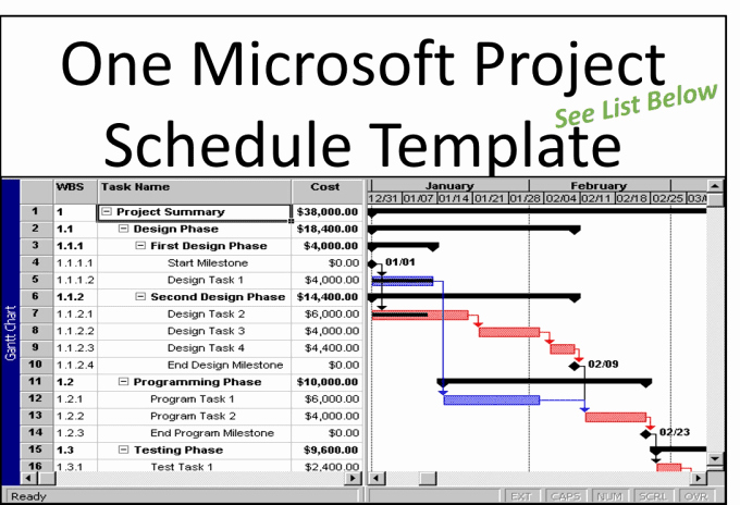 Project Template Microsoft Word Lovely Provide You One Microsoft Project Schedule Template by