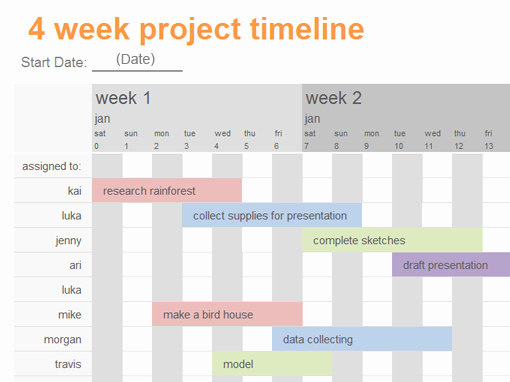 Project Timeline Template Word Inspirational Project Timeline Templates Fice