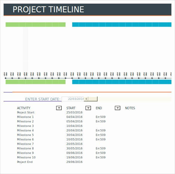 Project Timeline Template Word New Project Timeline Template 14 Free Download for Word