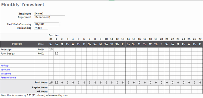Project Timesheet Template Excel Beautiful Need A Timesheet Template to Track Your Hours Here are 12