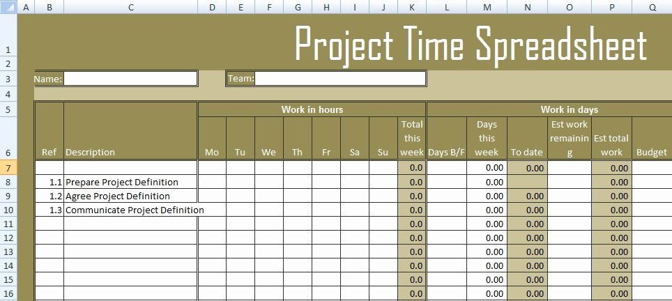Project Timesheet Template Excel New Get Project Time Spreadsheet Template Excel Excel