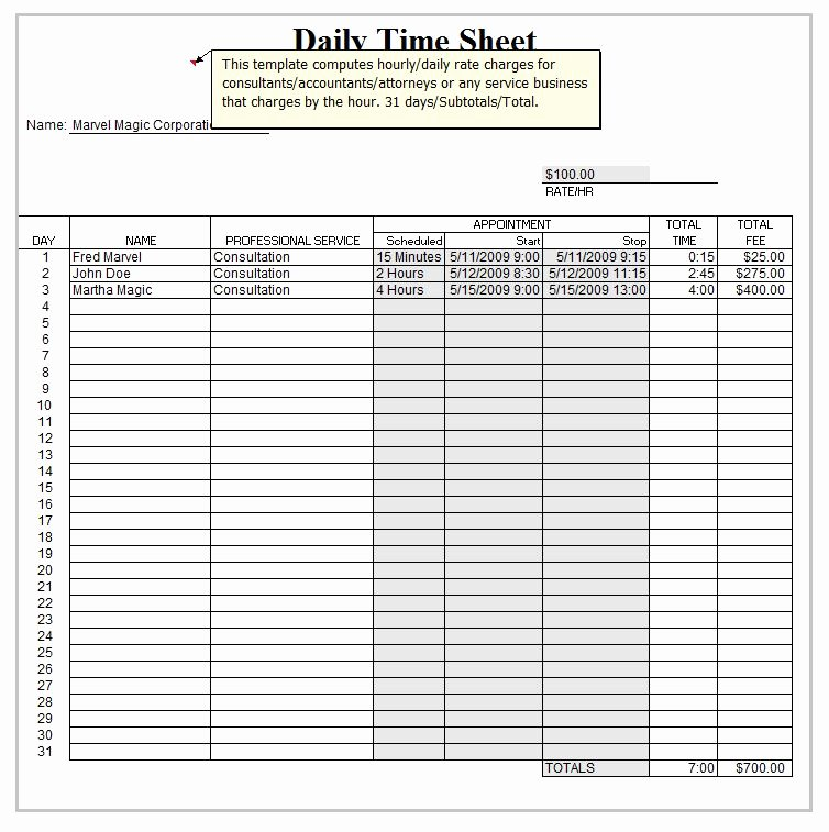 Project Timesheet Template Excel Unique Monthly Timesheet Template Excel 2010 Excel Timesheet
