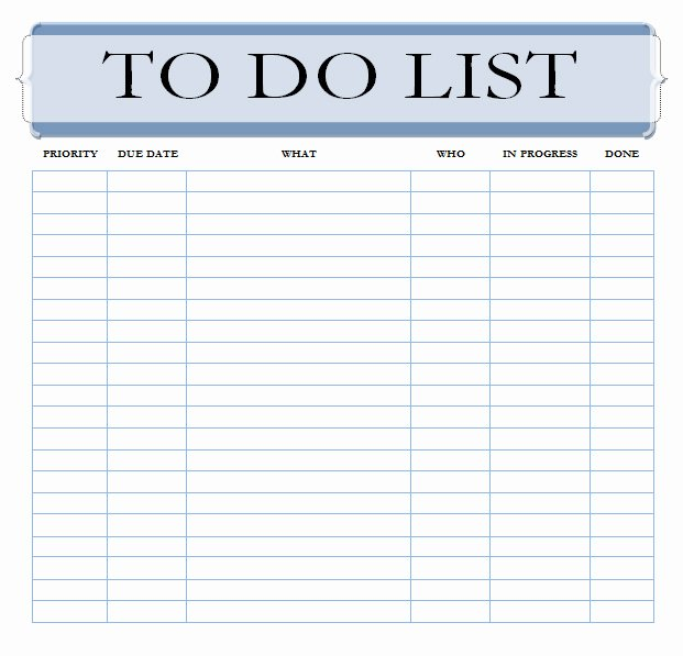 Project to Do List Template Best Of 6 to Do List Templates Excel Pdf formats