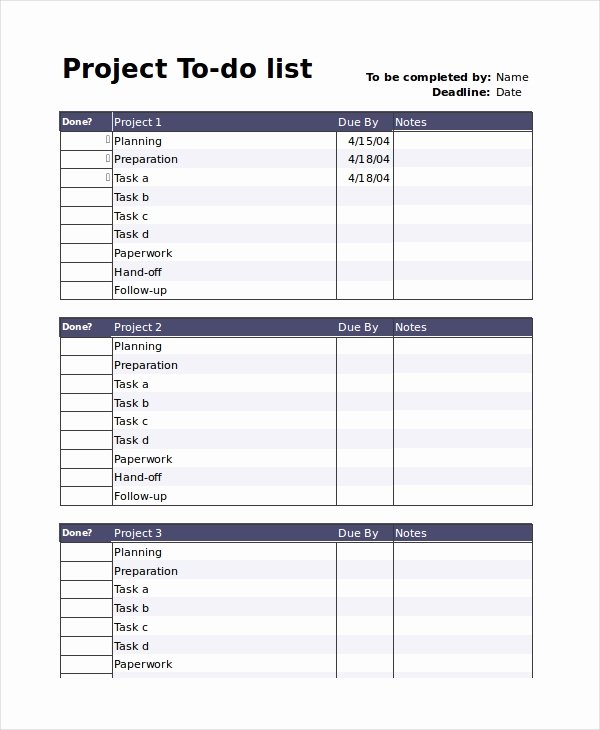 to do list templates