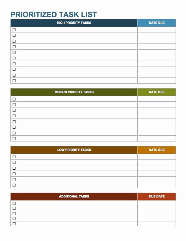Project to Do List Template Luxury Weekly Work to Do List Template