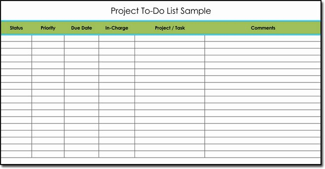 Project to Do List Template New Free to Do List Templates with Guide to Make Your Own