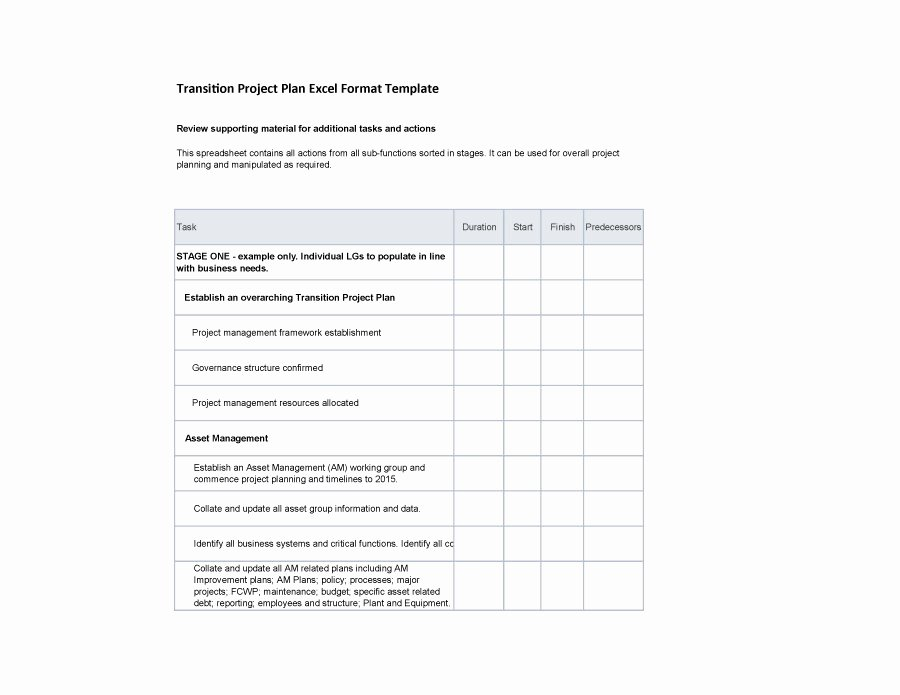 Project Transition Plan Template Best Of 40 Transition Plan Templates Career Individual