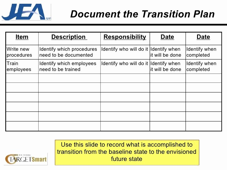 Project Transition Plan Template Luxury Transition Plan Template