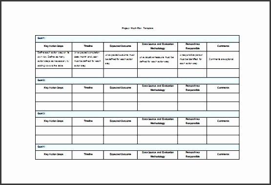 Project Work Plan Template Fresh 4 Project Plan In Pdf Sampletemplatess Sampletemplatess