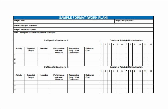 Project Work Plan Template Fresh Financial Plan Templates 11 Word Excel Pdf Documents