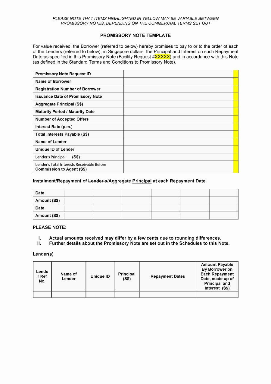 Promissory Note Template Free Inspirational 45 Free Promissory Note Templates & forms [word & Pdf