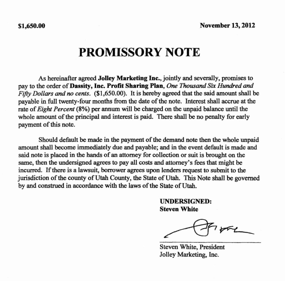 Promissory Note Template Free Unique 11 Promissory Note Templates Word Excel Pdf formats