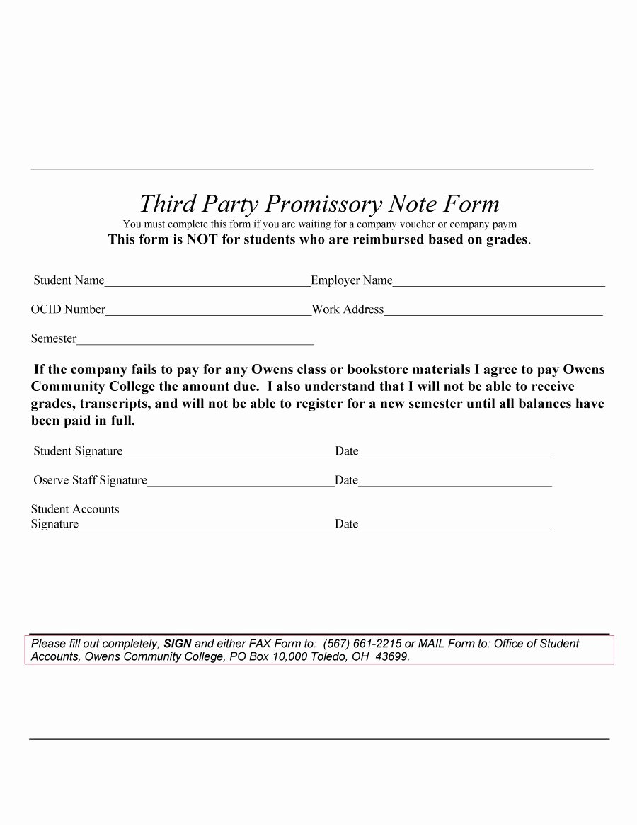 Promissory Note Template Free Unique 45 Free Promissory Note Templates & forms [word & Pdf]