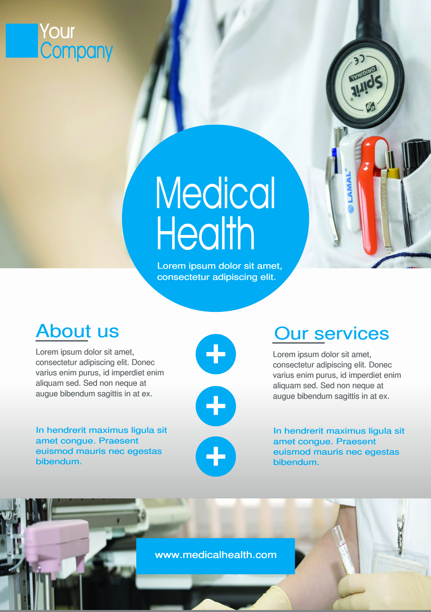 Promo Flyer Template Free Beautiful Medical A5 Promotional Flyer