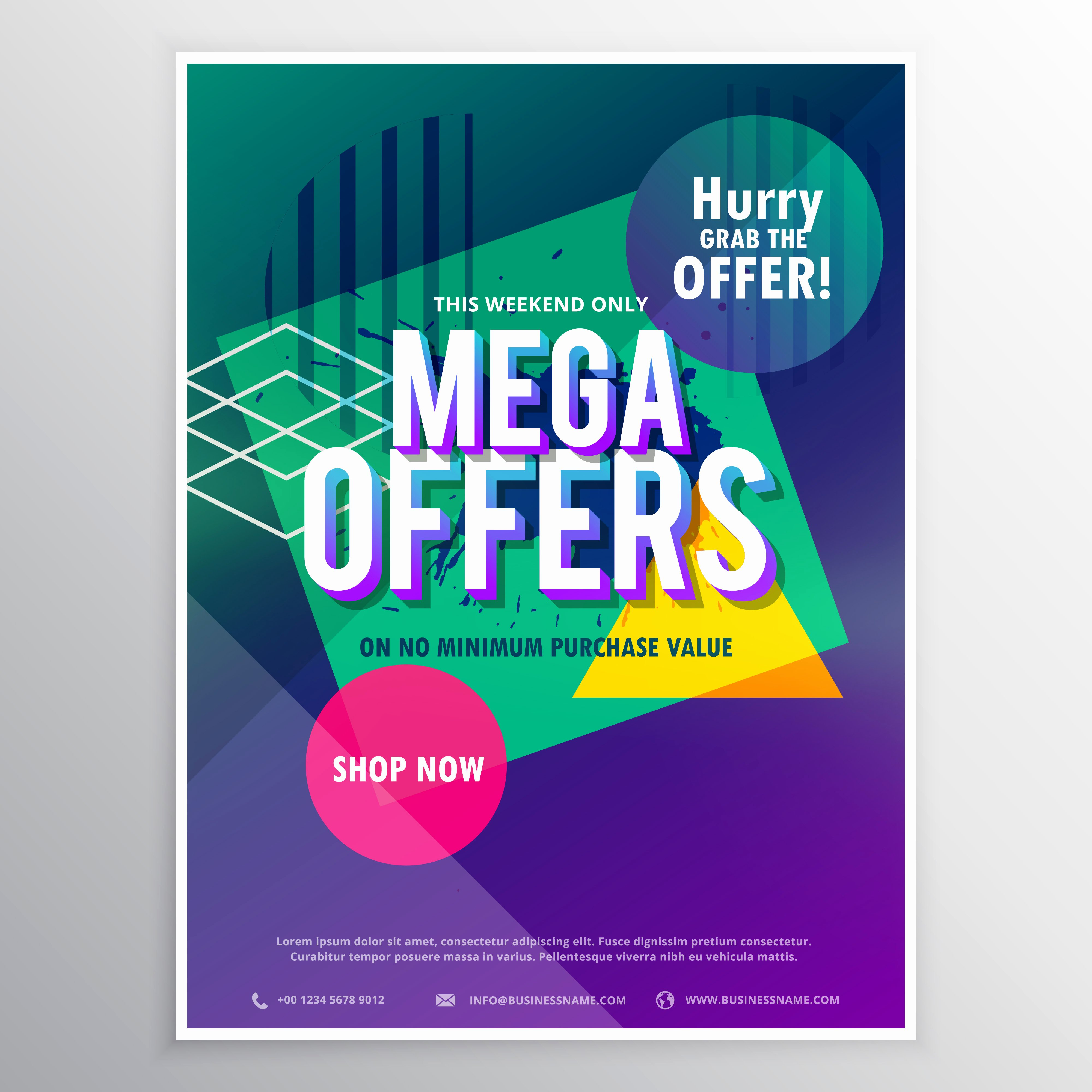 Promo Flyer Template Free Elegant Promotional Mega Sale Brochure Flyer Template with