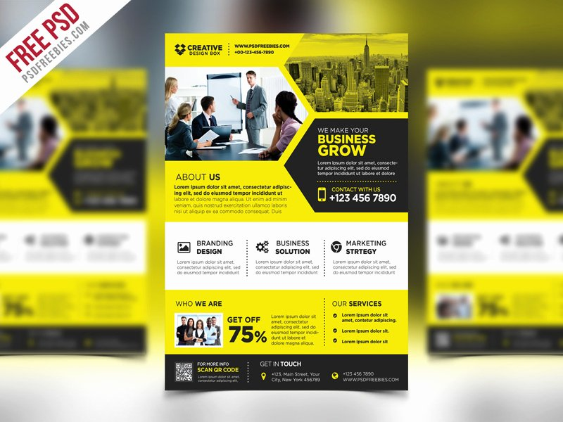 Promo Flyer Template Free Inspirational Corporate Business Promotional Flyer Psd Template