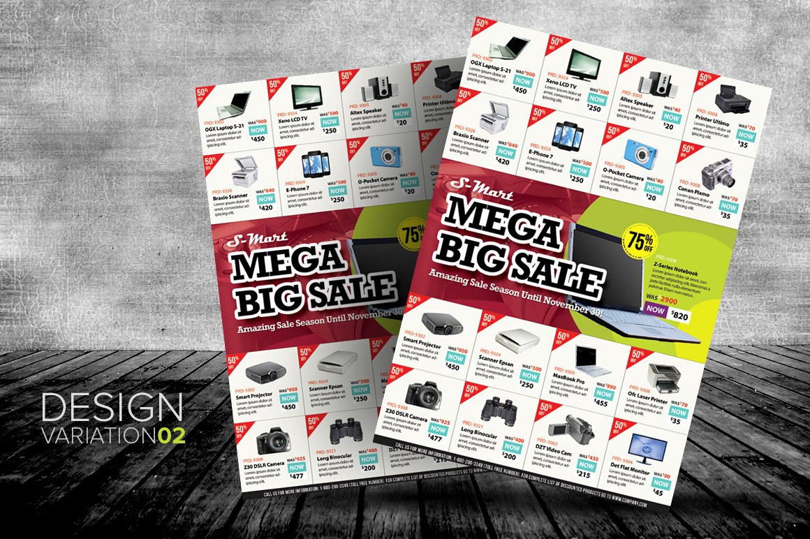 Promo Flyer Template Free New Creative Market Big Sale Promotion Flyers 02 O