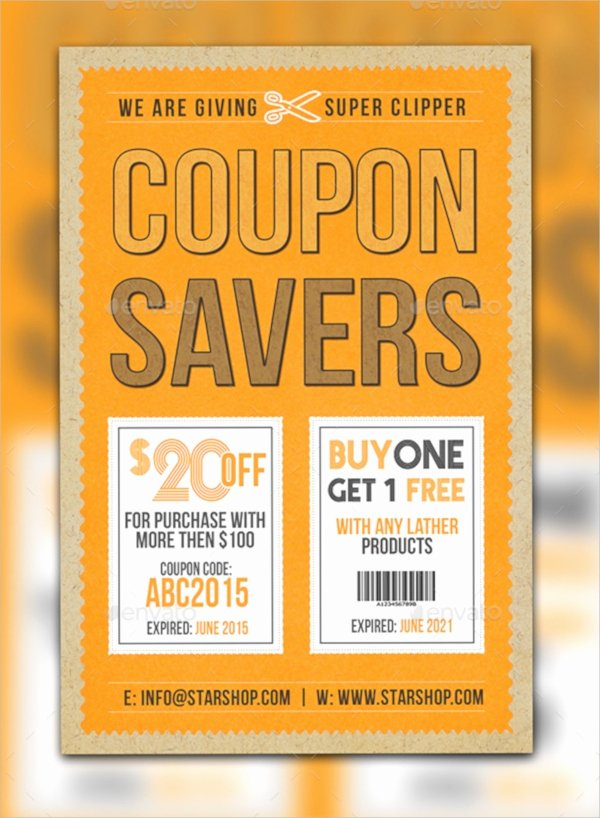 Promo Flyer Template Free Unique 11 Coupon Flyers